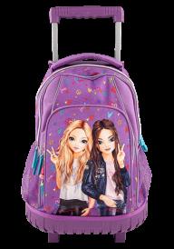 Top Model Backpack : trolley Hearts Purple