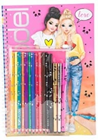 Top Model Colouring Book with Pen Set