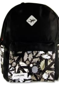 Explore 20ltr Backpack - Black Peace Hoop