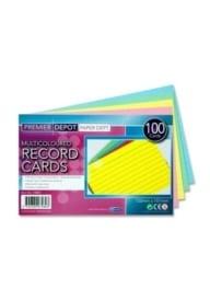 Multicoloured Record Cards